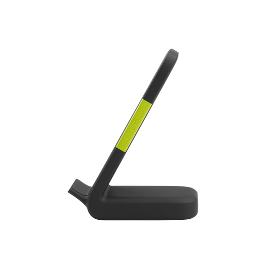 InstantStation Wireless Stand - Black - Wireless charging stand with 33W PD USB-C and USB-A fast charging - Left